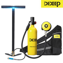 DIDEEP 1L Scuba Diving Cylinder Mini Oxygen Tank Set Respirator Air Tank With Hand Pump for Snorkeling Breath Diving Equipment(China)