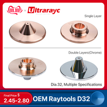 Ultrarayc Raytools Fiber Laser Nozzles Bulge Single Double Chrome Plated Layers D32 Caliber 0.8mm-5mm