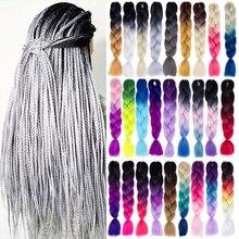 Kong & Li Afro włosy plecione mieszane kolor syntetyczny do przedłużania włosów na warkocze 24 ''100 g/paczka warkocz Jumbo produkty do włosów hurtownia