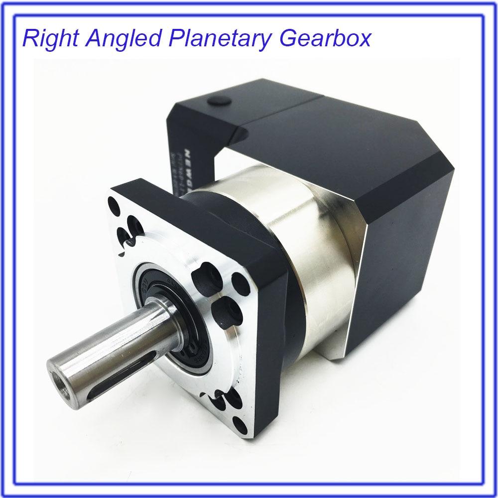 Right Angled Planetary Reducer Gearbox 90Degree Reversing Corner Reducer 3:1 for NEMA24 60mm 200W 400W 600W Servo Motor