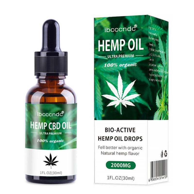 15/30ml Organic Hemp Essential Oil Bio-active Hemp Oil Drops Herbal Body Relieve Stress CBD Oil Skin Care Help Sleep Massage Oil