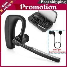 Écouteurs sans fil Bluetooth K10, stéréo, mains libres, réduction du bruit, casque d'affaires, avec interrupteur muet, pour téléphones intelligents