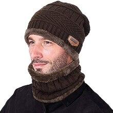 2 шт/компл теплая вязаная шапка шарф набор меховая шерстяная