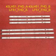 6 teile/satz led hintergrundbeleuchtung streifen für LG 43LF510V 43LF5100 43LH5100 43LH5700 43LH570A 43LH520V 43LH590 43LJ515V 43LH510V 43LH570V