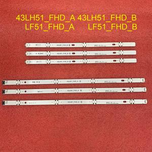 Image 1 - 6pcs/set LED backlight strip for LG 43LF510V 43LF5100 43LH5100 43LH5700 43LH570A 43LH520V 43LH590 43LJ515V 43LH510V 43LH570V
