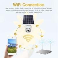 Escam Qf280 Surveillance Camera, 1080P Outdoor Solar Battery Full Color Night Vision Ip66 Waterproof Wifi Camera