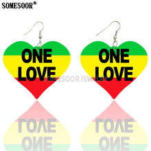 Somesoor 3 цвета в полоску с надписью «one love» Деревянные
