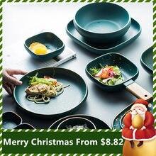 2020 Рождественский набор тарелок миска для супа посуда керамическая