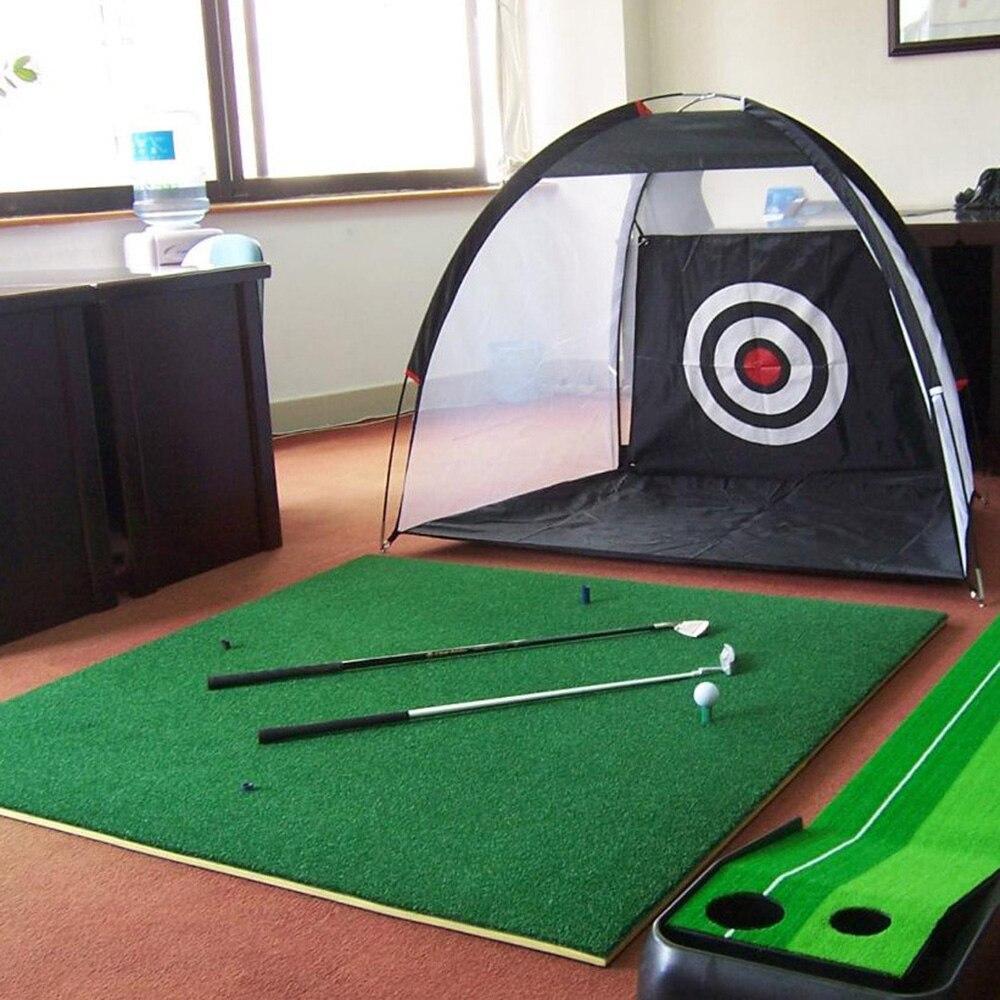 Portable 210D Oxford Cloth Nylon Lawn Tool Golf Practice Net Golf Training Net Sports Home Golf Chipping Net Beginners Travel