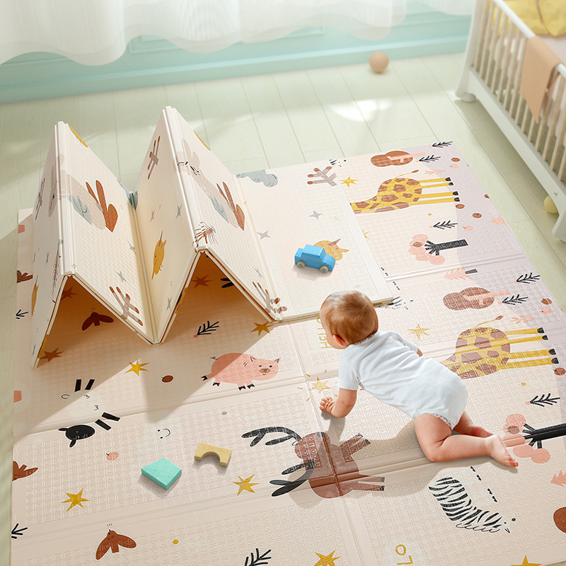 Beiens Baby Play Mat Baby Gym Puzzle Mat Kids Developing Carpet Children Room Crawling Toys EVA Foam Rug Foldable Sleepmat