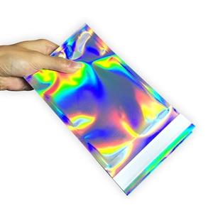 Image 2 - 100 stücke Laser Self Sealing Kunststoff Umschläge Mailing Lagerung Taschen Holographische Geschenk Schmuck Poly Klebstoff Kurier Verpackung Taschen