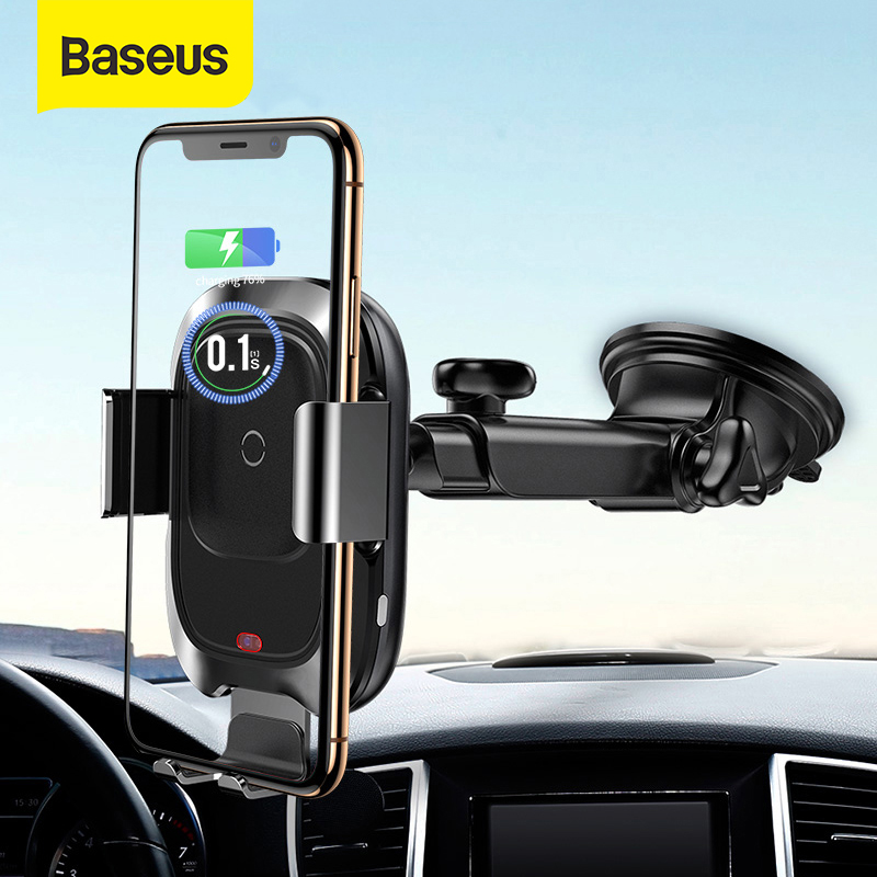 Baseus Wireless Charger Car Phone Holder For IPhone Xs Max XR Fast Wireless Charging For Samsung Note9 S9  Car Holder Charger