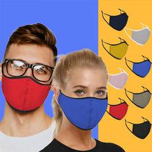 Máscara de earloop simples para ciclismo acampamento 1pc lavável reutilizável algodão boca máscaras de rosto capa boca mascarilla bocas laváveis