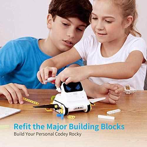 Makeblock Codey ROCKY โปรแกรมหุ่นยนต์,ของเล่นสนุกของขวัญเรียนรู้ AI,Python, รีโมทคอนโทรลสำหรับเด็กอายุ 6 +