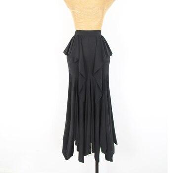 Modern Dance Costume For Women Professional Practice Dance Irregular Flowing Skirt Ballroom Dance Dress Waltz Dancewear DQL3058