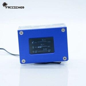 Image 5 - FREEZEMOD pc مبرد مياه 2019 جديد ذكي الكمبيوتر تدفق سرعة LCD كشف درجة الحرارة مبرد مياه تدفق متر. LSJ ZN