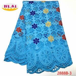 Image 5 - Африканская Хлопковая кружевная ткань NIAI 2020, Высококачественная швейцарская вуаль, кружево в Швейцарии, швейцарская вуаль с вышивкой, кружевная ткань