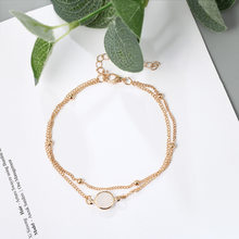 Gold Silver Plating Ankle Chain & Bracelet Multilayer Wedding Bridal Beads Foot Anklet Leg Ornaments For Woman Girls Decoration(China)