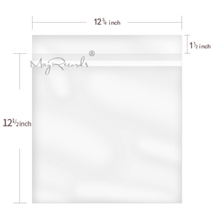 Image 5 - 50PCS Resealable 4 Mil Flap Outer Plastic Vinyl Record Outer Sleeves for 12 Normal LP GATEFOLD 2LP