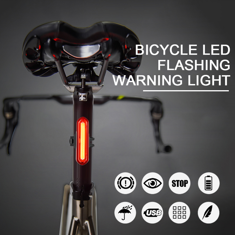 Bicycle Light Waterproof Outdoor USB Rechargeable Mountain Bike Taillight Night Riding LED Safety Warning Lights Bicycle