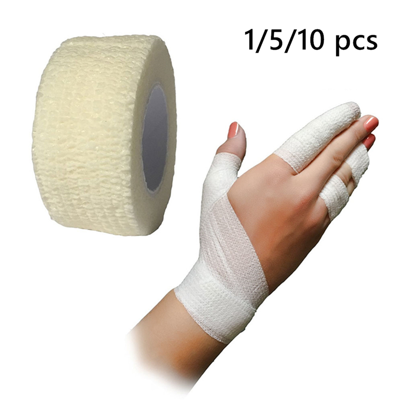 1/5/10 Pcs Medical Bandage First Aid Tool Adhesive Bandage Adhesive Stretch Band Wrist Treatment Gauze Tape Emergency Tape