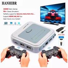 R8 retro mini tv/vídeo game console para ps1/n64/dcbuilt-in 50 emuladores com 33200 jogos suporte hdmi para fora com gamepad sem fio