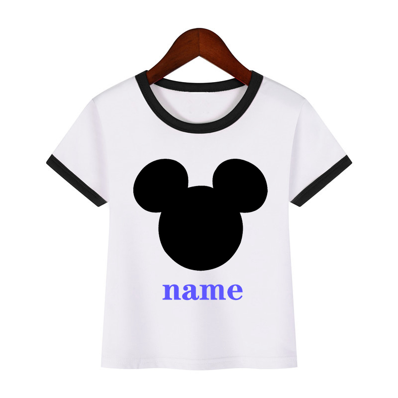 Boys Girls Mouse Personalized Print Birthday T Shirt Kids Short Tops Children Design Your Name Cute Baby T Shirt Tees Aliexpress,2018 Grand Design Solitude 375res