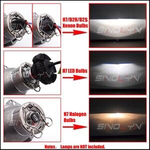 Image 5 - Sinolyn Headlight Lenses H7 LED 3.0 For Hella 3r H7 D2S D2H HID Halogen Bi xenon Projector Lens Car Lights Accessories Retrofit