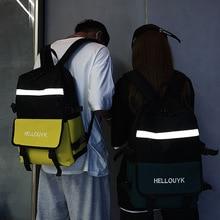 Luminous School Bag Teenagers Student Schoolbags Women Packsack Men Backpack Korean Harajuku Ins Backpack Mochilas Para Ninas