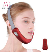 RF Microcurrent V Face Shaping Facial Massager V Line Face Lift Skin Tightening Tightening V Shape Remove Double Chin Device