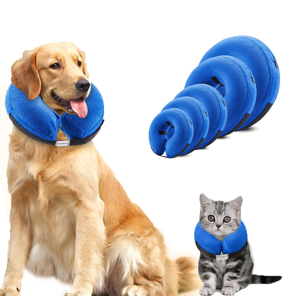 Pet Coilar Inflatable Dog Collar With Zipper Soft Recovery Collars For Dog And Cat E Collar Protecting Kitten Puppy From Wound Aliexpress