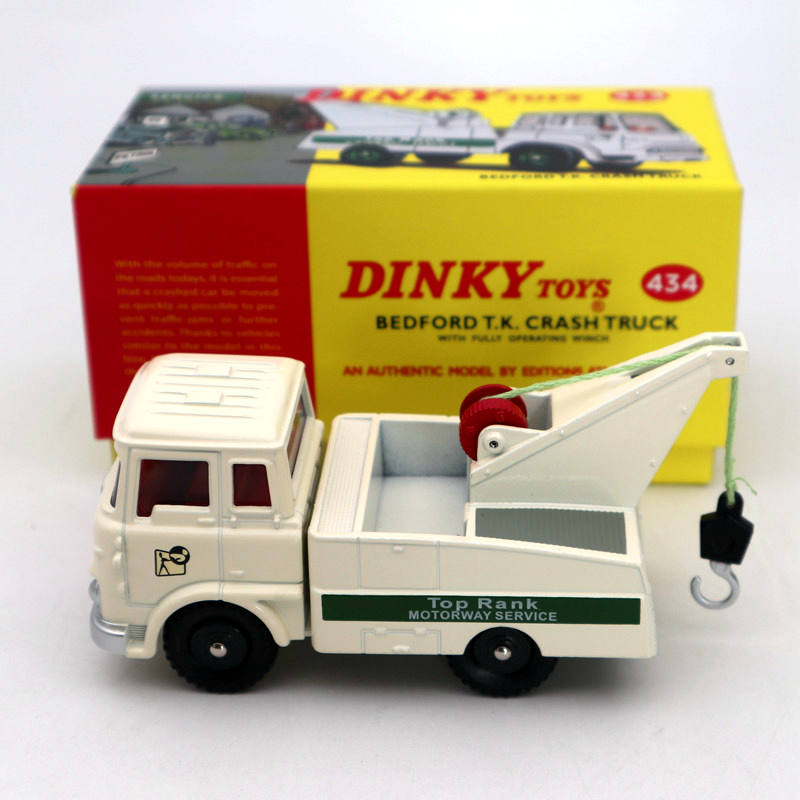 Atlas Dinky Toys 434 Bedford TK Crash Truck With Fully Operating Winch Diecast Models Limited Edition Collection Auto Car