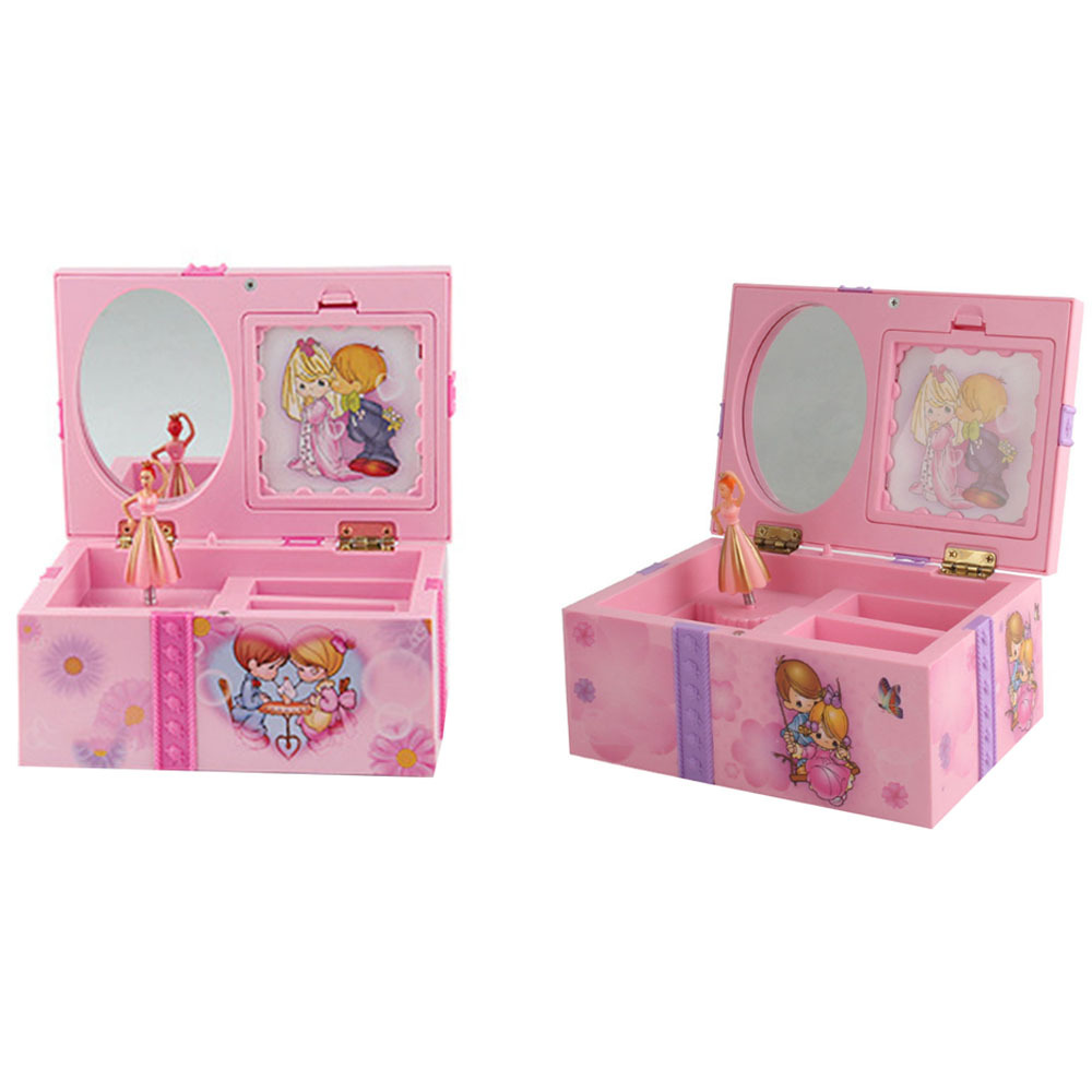 Toys Music Box Creative Gifts Rattle Toys For Kids Clockwork Toy Musical Jewel Case Storage Organizer Creative Gift For Girls