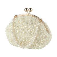 Fashion Artificial Pearls Clutch Evening Bag Women Formal Dinner Handbag Wedding Bridal Purse 2019