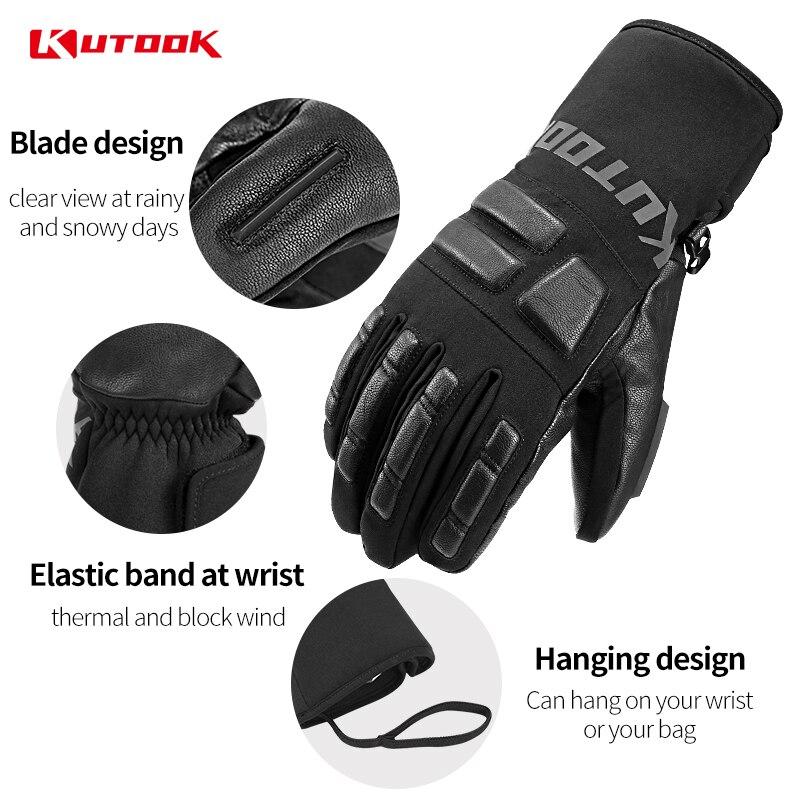Kutake gants de Ski imperméables hommes hiver gants de Snowboard thermique coupe-vent femmes planche à neige gants de motoneige accessoires de Ski - 4