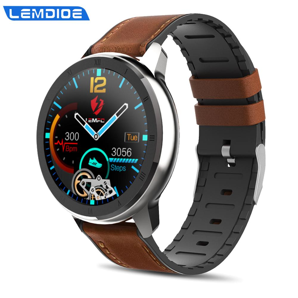 LEMDIOE professional sporty smart watch men  blood pressure monitor waterproof  ecg ppg smartwatch for android huawei replaceabl|Smart Watches| |  - AliExpress