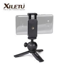 XILETU XS 1 מיני שולחן עבודה קטן כף יד Stand שולחן נייד נסיעות חצובה עבור smartphone טלפון סלולרי DSLR עם טלפון בעל