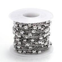 1 метр из нержавеющей стали бисерная цепочка 2 мм бисера ожерелье