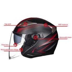 Image 3 - GXT casco de moto cara abierta visores de doble lente casco de motocicleta casco bicicleta eléctrica hombres mujeres verano Scooter moto casco