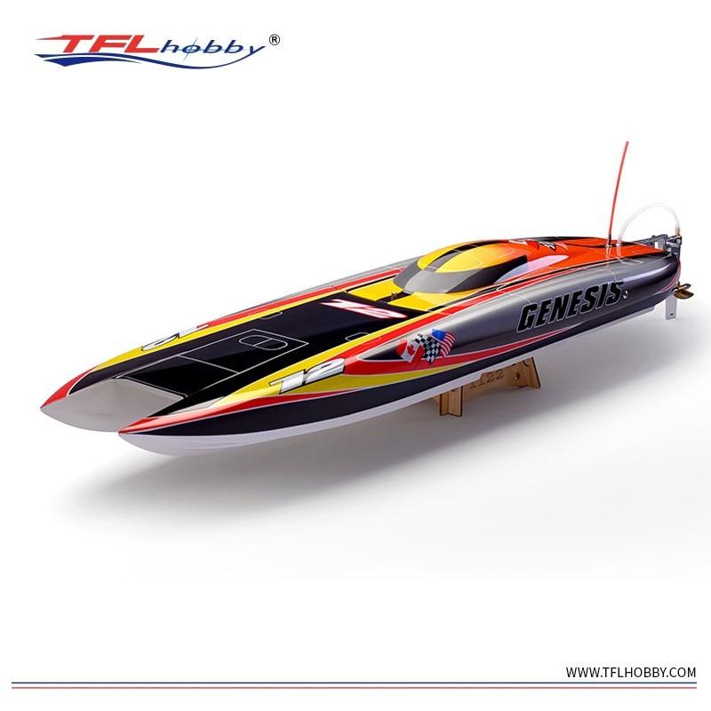 Genesis 1122 Catamaran Racing Boat / Electric Brushless RC Boat Fiberglass with 3674 brushless motor KV207, 125A ESC with BEC