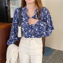 Bethquenoy с длинным рукавом рубашки в винтажном стиле свободные