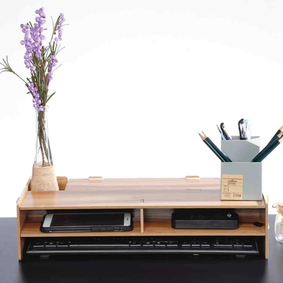Многофункциональная настольная подставка для монитора Soporte, компьютерный экран, деревянная полка, подставка для ноутбука, настольный держатель для ноутбука, ТВ