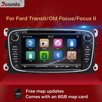 2 din Car DVD For Ford Focus 2 Mondeo 4 C-Max S-Max Galaxy Kuga Transit Connect Multimedia Radio GPS Navigation Audio Head Unit image