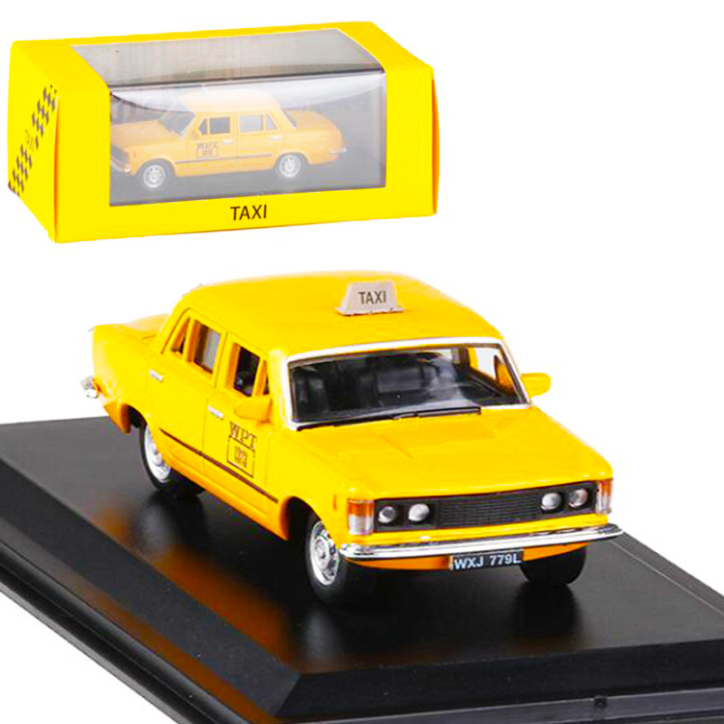 <font><b>1</b></font>:<font><b>43</b></font> Scale 1980 Cab Taxi Diecast Alloy Classic <font><b>FIAT</b></font> 125P Varsavia <font><b>Car</b></font> <font><b>Model</b></font> Matel Vehicles Traffic Toys F Children Collection image