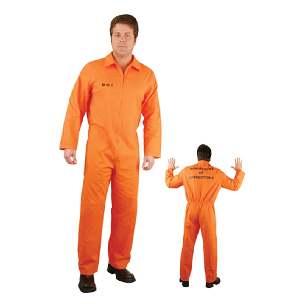Convict Stag Do Party Fancy Costume Mens Boys Prisoner Overall Orange Jumpsuit