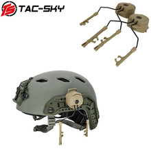 Military tactical Peltor helmet headset stand Fast Ops core helmet rail adapter comtac i ii iii ivTAC SKY tactical bracket DE