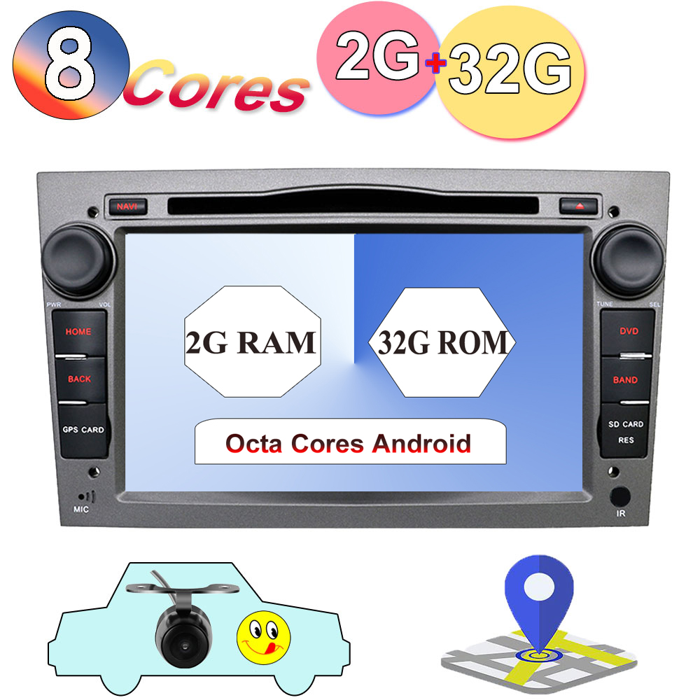 <font><b>8</b></font> core 1024*600 Quad Core <font><b>Android</b></font> 9.0 Car tape recorder GPS DVD Player For Opel Astra H Vectra Corsa Zafira B C G support OBD2 image