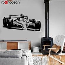 Car Auto Racing Body Shop Wall Sticker Vinyl Home Decor Interior Murals Kids Room Decals Drift Formula One Wallpaper 3659