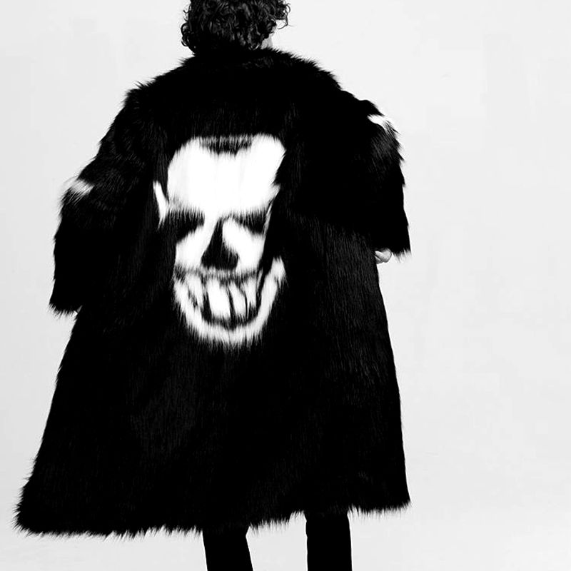 Новый осенний и зимний свободный Зимний толстый пуховик, Толстая черная мужская одежда - 3