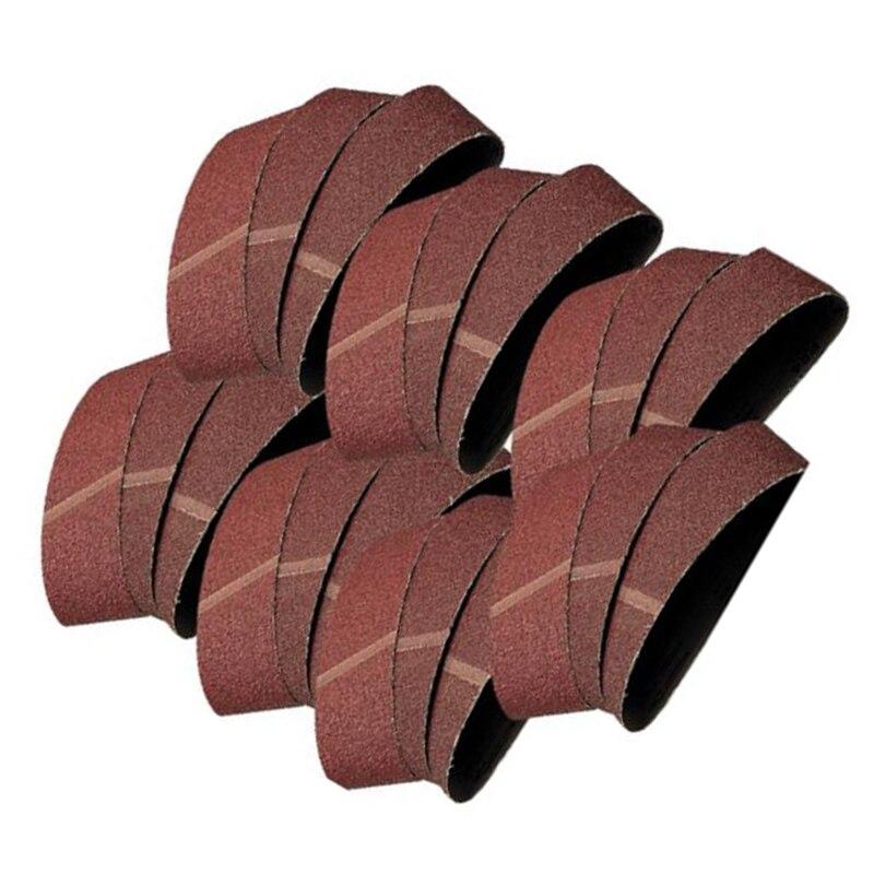 20 PCS 60/80/100/120 Grit Sanding Belts Brown Corundum 457x75mm Sander Accessory